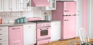 Cocina en color rosa