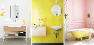 Baños con toques amarillos