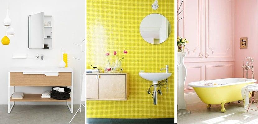 Amarillo para decorar el cuarto de baño