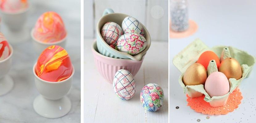 Decorar con huevos en Pascua