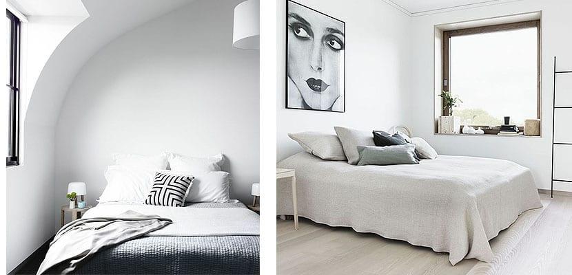 Dormitorios de color blanco