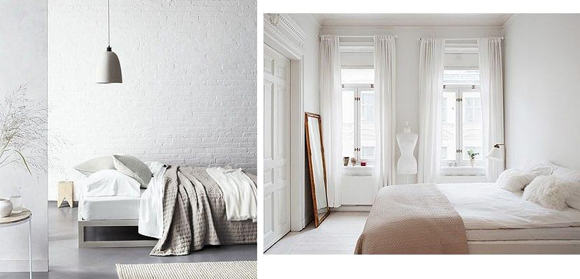 Blanco sobre blanco dormitorios serenos for Cortinas para dormitorio blanco