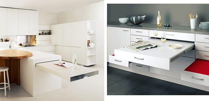 Mesas de cocina for Cocinetas para cocinas pequenas