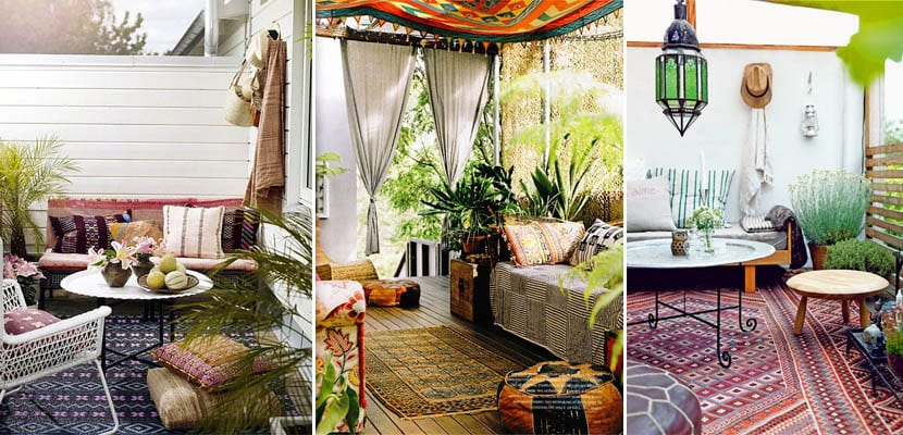Porches y patios de estilo bohemio