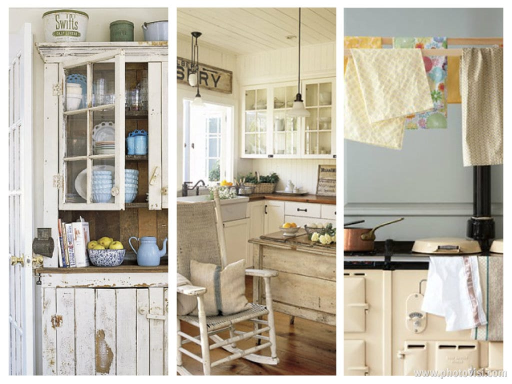 Decora tu cocina con un toque rom ntico y vintage for Muebles romanticos blancos