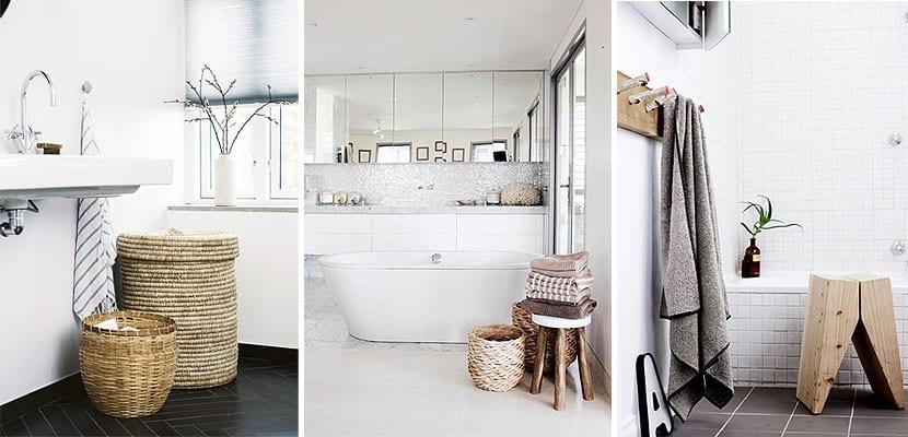 Cestos y taburetes baño