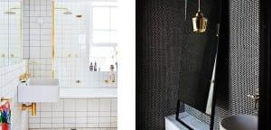 Elementos dorados baño