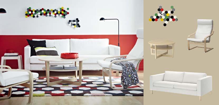 Sofá blanco de Ikea