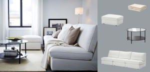 Sofá blanco Ikea
