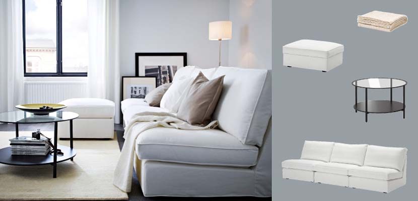 Ideas de ikea con sillones blancos for Sillones salon diseno