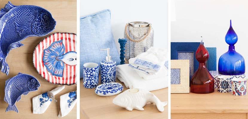 Tonos azules en la decoración