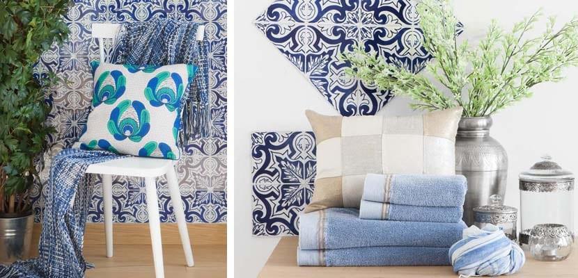 Tonos azules en los textiles