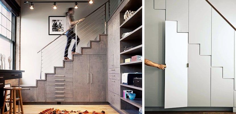 Soluciones de almacenaje en el hueco de la escalera for Closet en escaleras