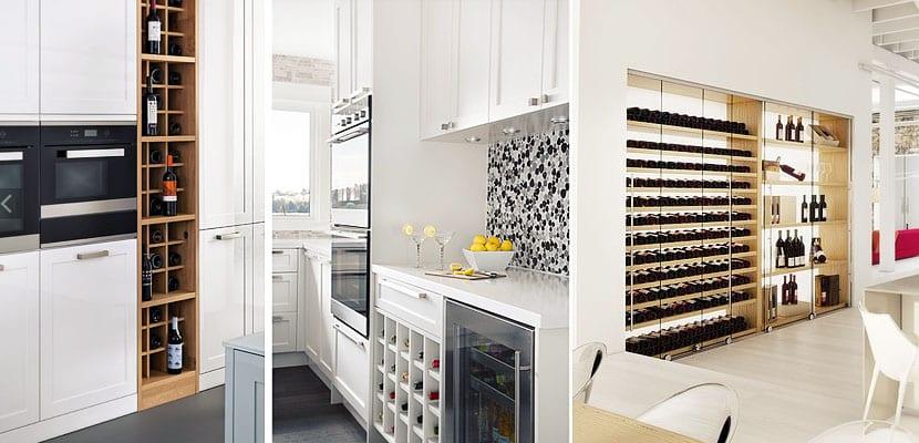 Ideas para colocar un botelleros en tu cocina