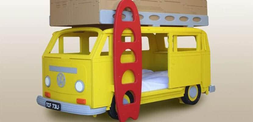 Camas infantiles en forma de furgoneta