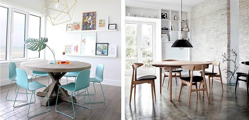 Coloca una mesa redonda en tu comedor familiar