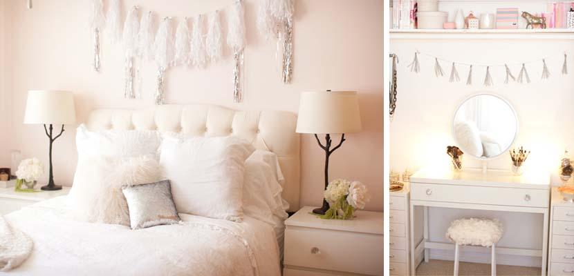 Dormitorios femeninos en blanco