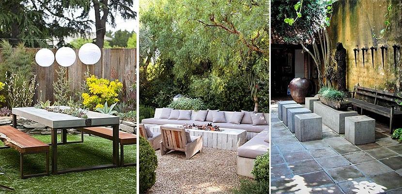 Elementos decorativos de hormig n para el jard n - Bancos para exterior de jardin ...