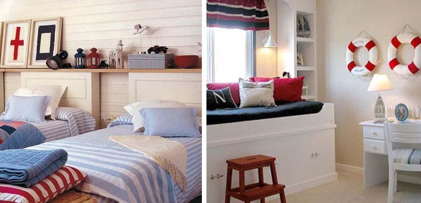 C mo decorar tu casa en el estilo navy - Habitaciones infantiles marineras ...