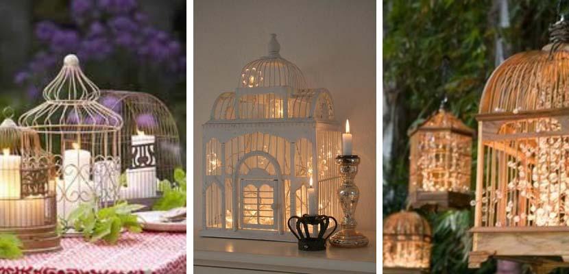 Jaulas decorativas con luces