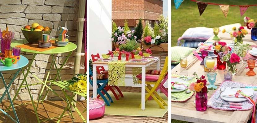 Mesas de verano muy coloridas