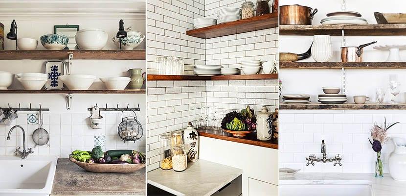 Estanterias para cocinas estanteras para la cocina en for Ideas decorativas para cocinas pequenas