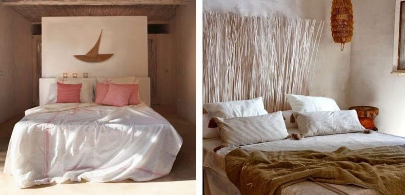 Dormitorios en casa rústica