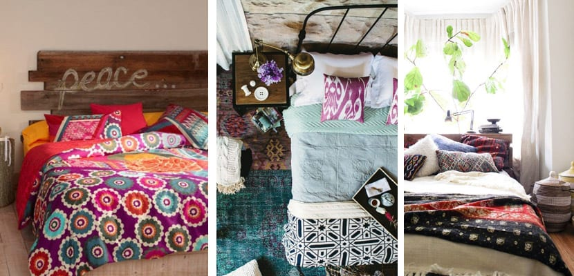 Dormitorios en estilo boho chic for Muebles hippies