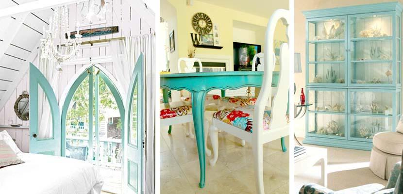 Muebles en color turquesa
