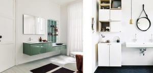 Muebles flotantes cuarto de baño