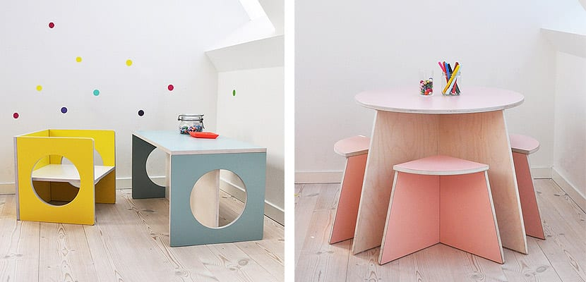 Muebles infantiles small desing coloridos y geom tricos for Muebles design