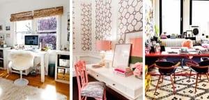 Oficina femenina en casa