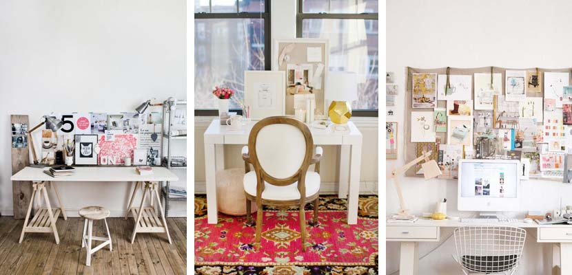 Ideas para una oficina femenina en casa for Muebles de oficina low cost