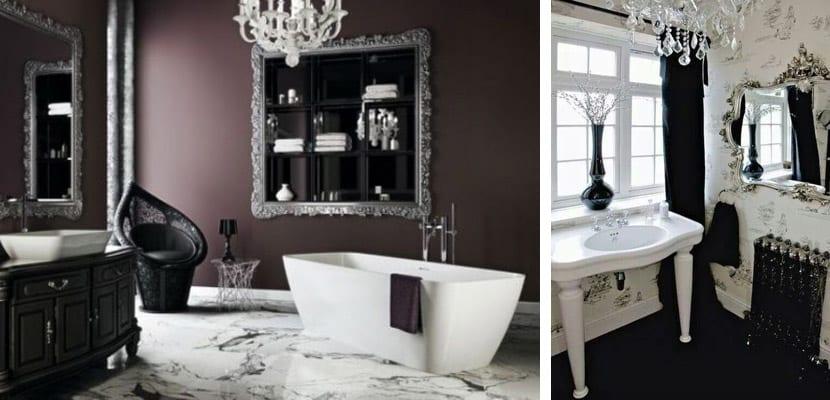Baño en estilo gótico