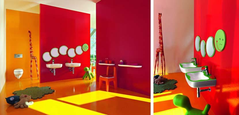 Baño infantil colorido