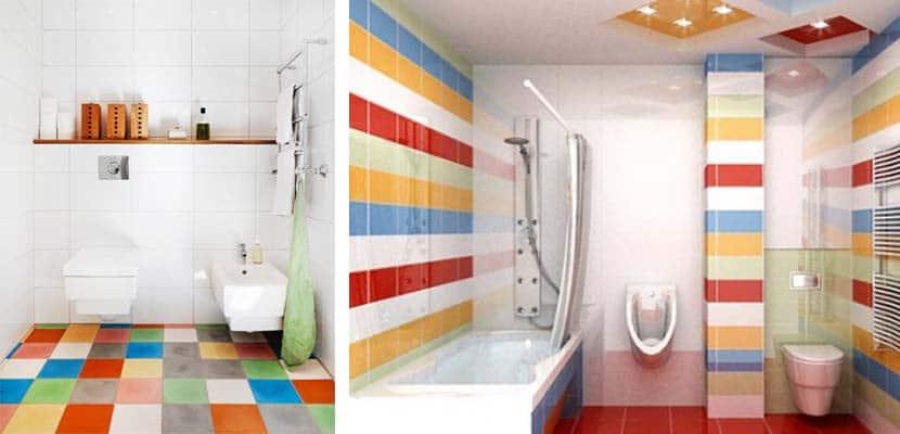 Baños multicolor