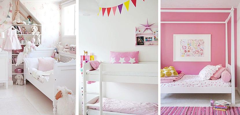 Dormitorios rosas para princesas modernas - Habitaciones pequenas para ninas ...