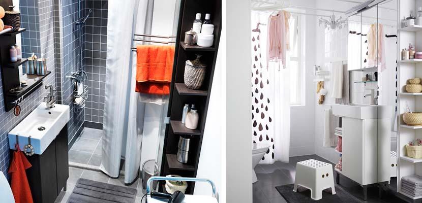 Baños pequeñas de Ikea