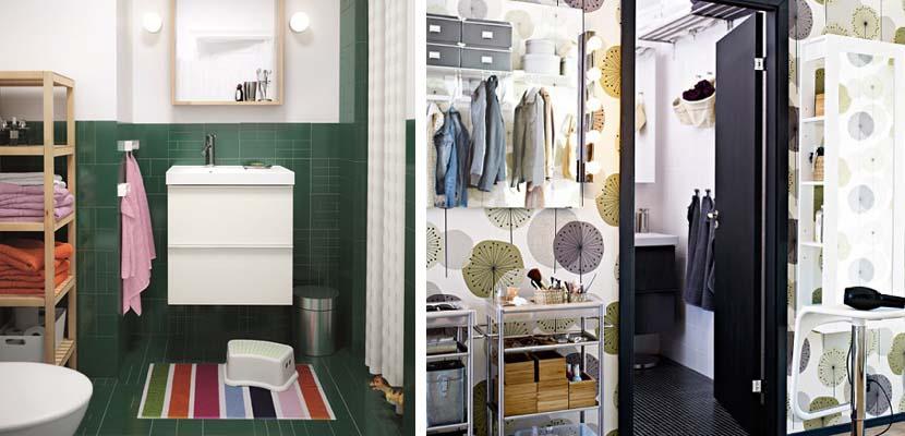 Baños pequeños de Ikea
