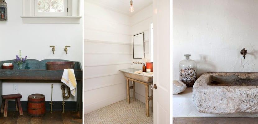 Ideas para decorar un cuarto de baño rústico