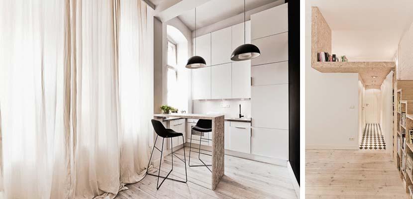 Cocina del mini apartamento