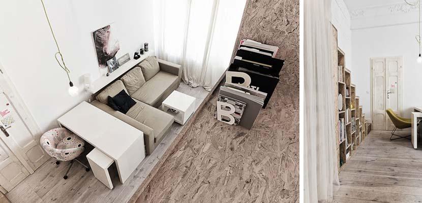 Salón del mini apartamento