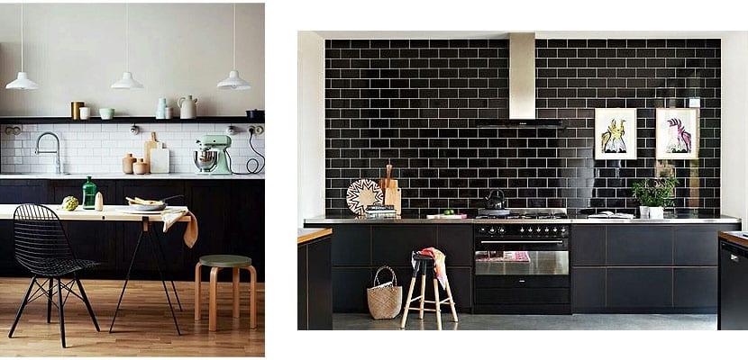 Muebles de cocina negros