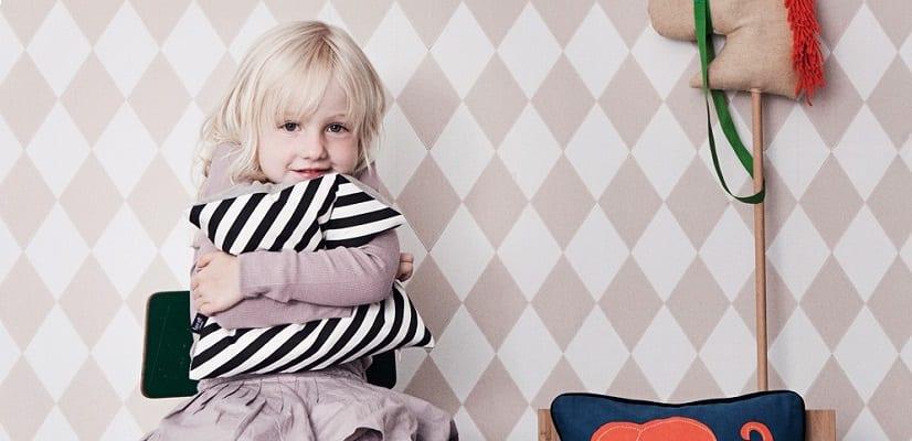 Papel pintado infantil arlequín