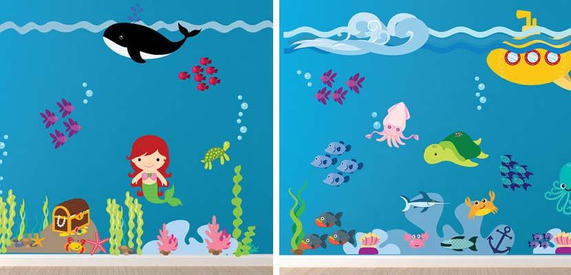 Vinilos infantiles bajo el mar