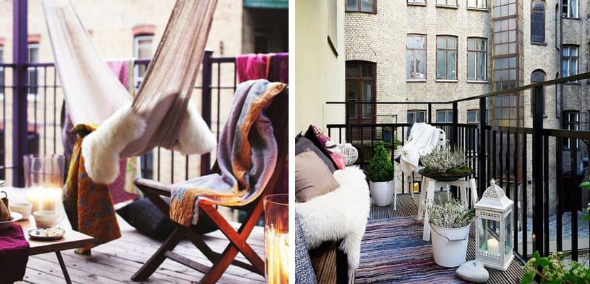 Balcones con estilo nórdico