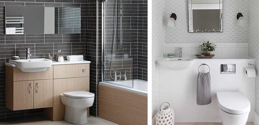 Muebles combo para decorar un cuarto de baño pequeño