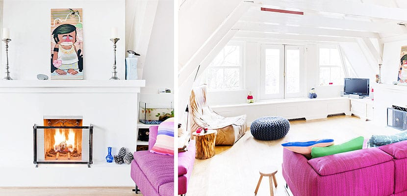 Coloridos interiores en Amsterdam