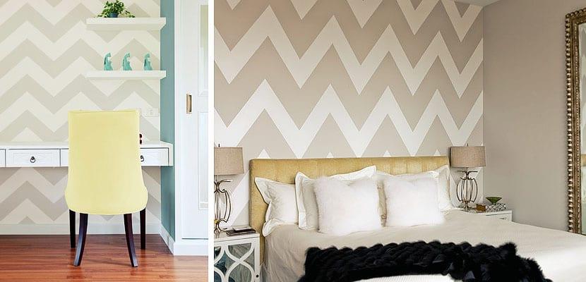 Paredes chevron o zig zag en el dormitorio - Lo ultimo en decoracion de paredes ...