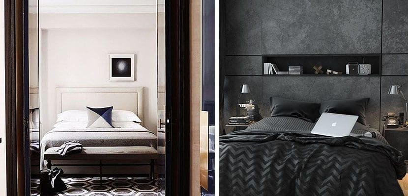 Dormitorios para ellos en colores neutros - Dormitorio masculino ...